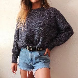 h&m shimmery pullover sweater